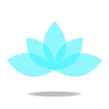 Lotus Icon Vector Transparent Blue Petals Flower