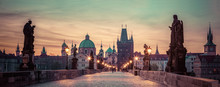Charles Bridge At Sunrise, Pra...