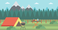 Background Of Camping Site.