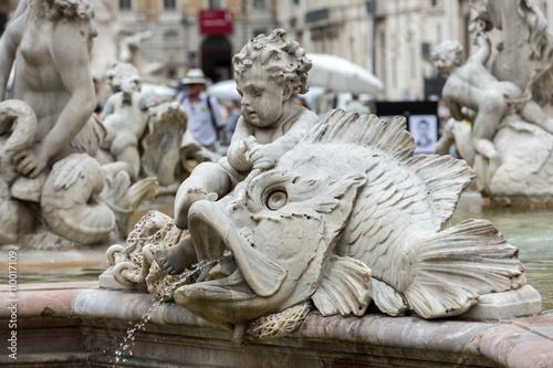 Fotografie, Obraz  Piazza Navona Fountain of Neptun
