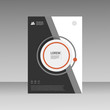 Vector Leaflet Brochure Flyer template A4 size design, annual report, book cover layout design, abstract cover design