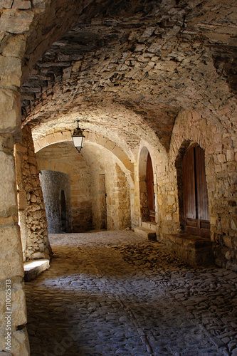 old stone arcade