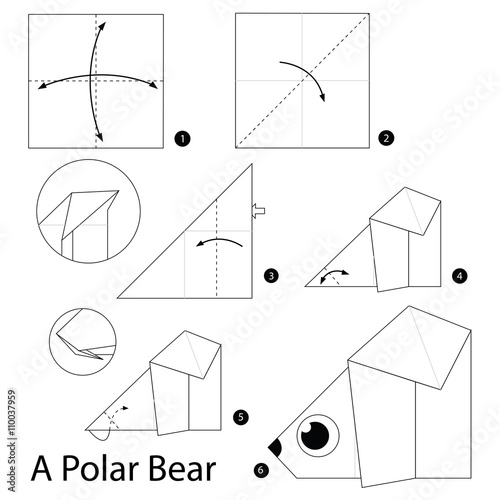 Step by step instructions how to make origami A Polar Bear ... - photo#23