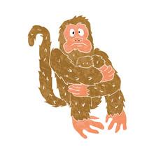 Monkey Sitting.