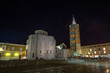 St Donatus church in Zadar at night - Croatia