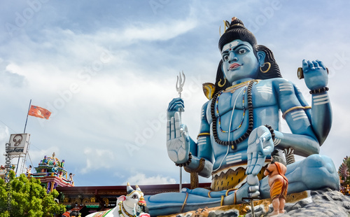 God Shiva statue at Hindu temple in Trincomalee, Sri Lanka