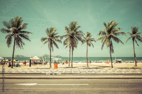 Staande foto Strand Palms on Ipanema Beach in Rio De Janeiro, Brazil