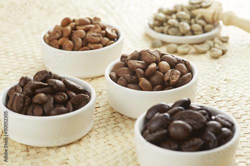 Foto  いろいろな種類のコーヒー豆