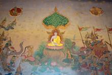 Buddha Picture At Wat Pho Chai  ,Nong Khai Thailand