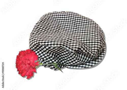 cc6c8625eb2d6 Gorra de chulapo y clavel San Isidro - Buy this stock photo and ...