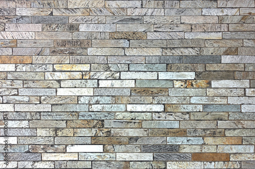 Photo sur Toile Brick wall Marble brickwork for road or wall.