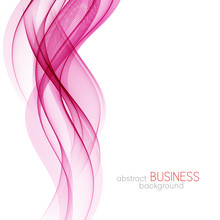 Abstract Vector Background, Pink Wavy