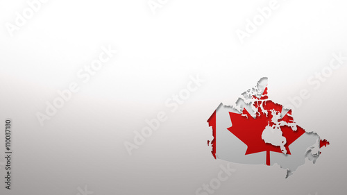 Canada map with flag style wallpaper background 3d cut out effect ...