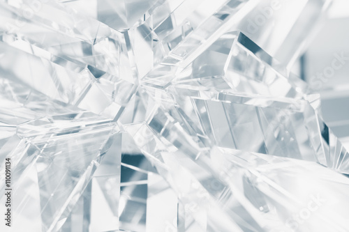abstract background of crystal refractions Canvas Print