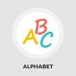Alphabet flat icon