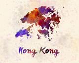 Hong Kong in watercolor - 110101755