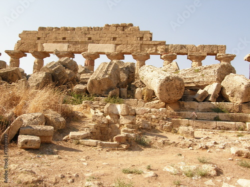 Foto op Aluminium Rudnes Rovine di Selinunte