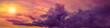 Leinwandbild Motiv panoramic dramatic sunset with purple clouds