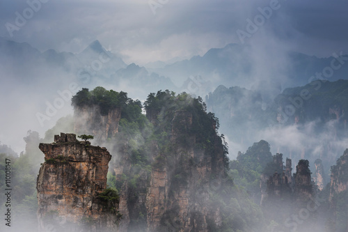Photo sur Toile Bambou Avatar mountains of Zhangjiajie - China