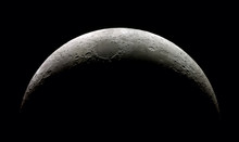 High  Detail Waxing Crescent M...