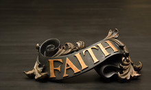 Classic Faith Copper Scroll Decor