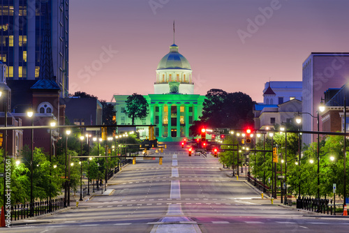 Photo sur Toile Lavende Montgomery Alabama Downtown