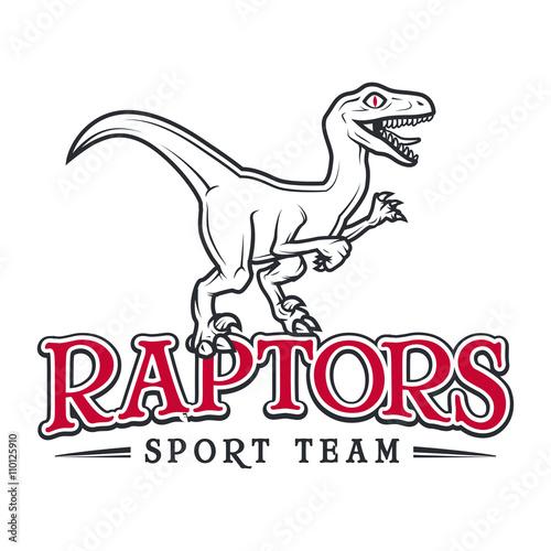 Photo  Vintage Jurassic raptor Logo