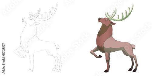 Creative Illustration And Innovative Art Animal Set Sketch Line