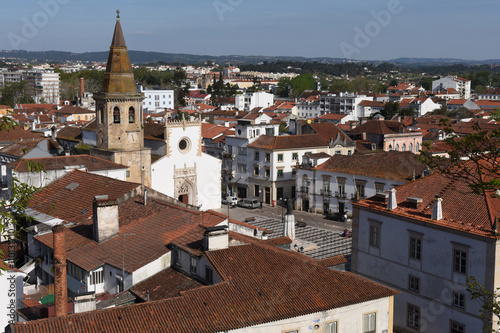 view of the town of Tomar, District of  Santarem, Portugal Fototapet