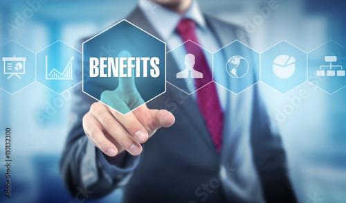 Fototapeta Businessman / Benefit obraz