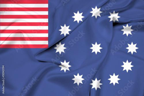 Fotografie, Obraz  Waving Flag of Easton, Pennsylvania