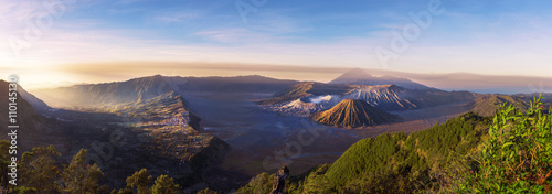Aluminium Prints Indonesia Mount Bromo blue sky day time nature landscape background