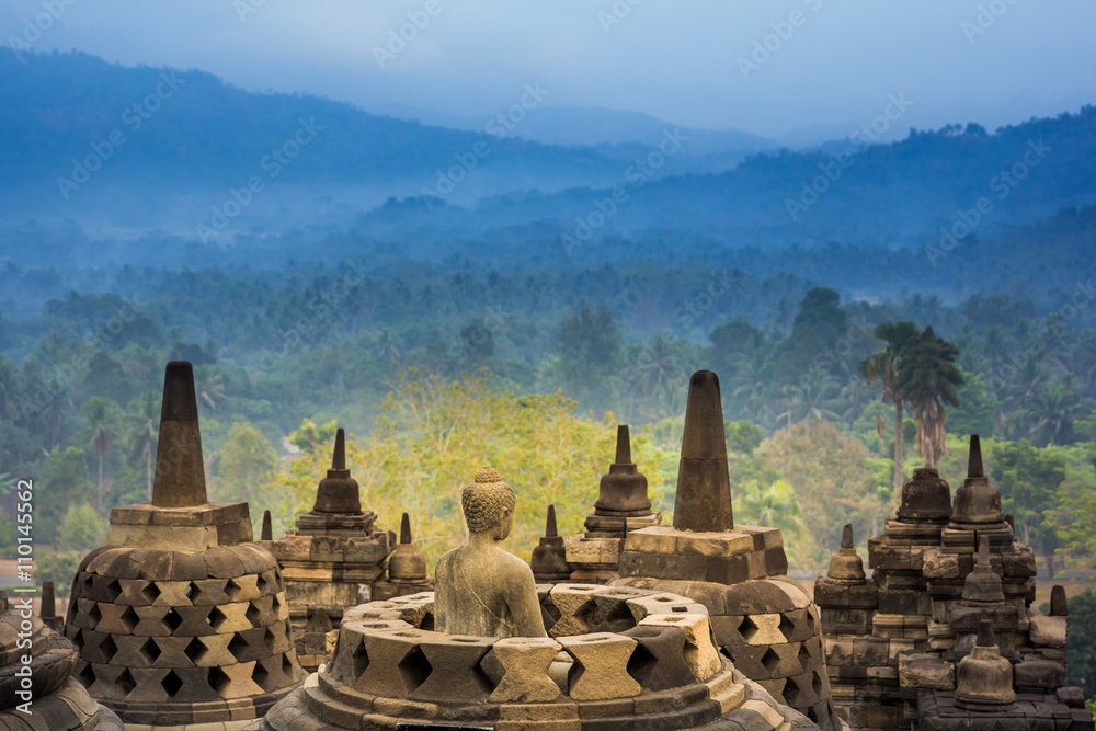 Fototapety, obrazy: Borobudur Temple, Yogyakarta, Java, Indonesia.
