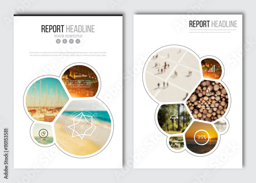 business brochure design template vector flyer layout blur
