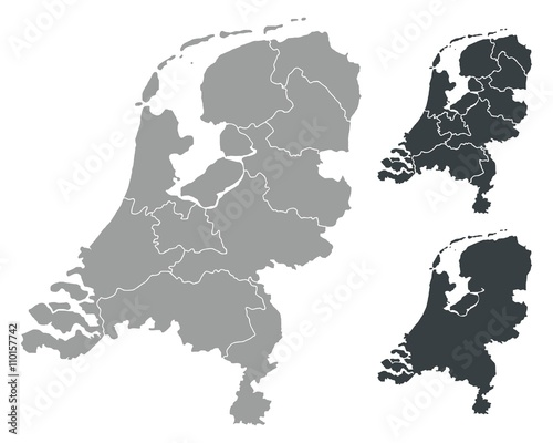Detalied Netherlands map Fototapete