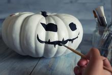 Preparing Halloween Decorations