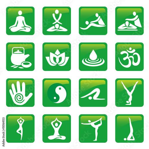 Photo  Yoga spa massage buttons