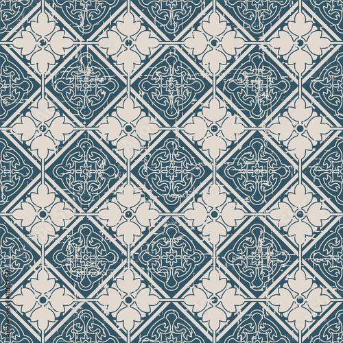 bezszwowa-bedaca-ubranym-out-rocznika-tla-357-square-czeka-krzyza-kwiatu-round-rama