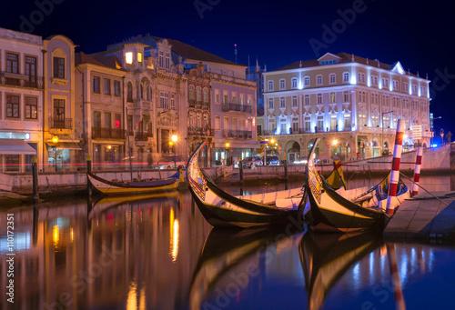 Fotografie, Obraz  Aveiro city by night - Portugal