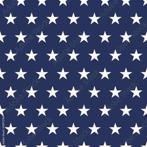 USA flag seamless pattern Wallpaper Mural