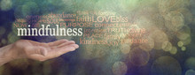 Mindfulness Word Cloud Grunge ...