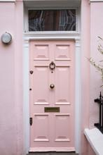 Pink Door In Typical London House