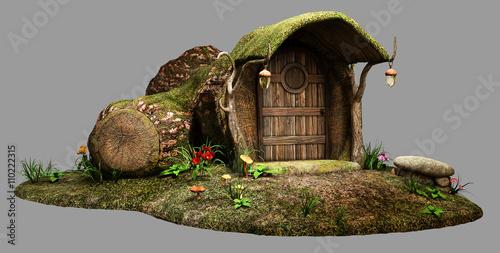 Fotografie, Tablou  Fairy log house