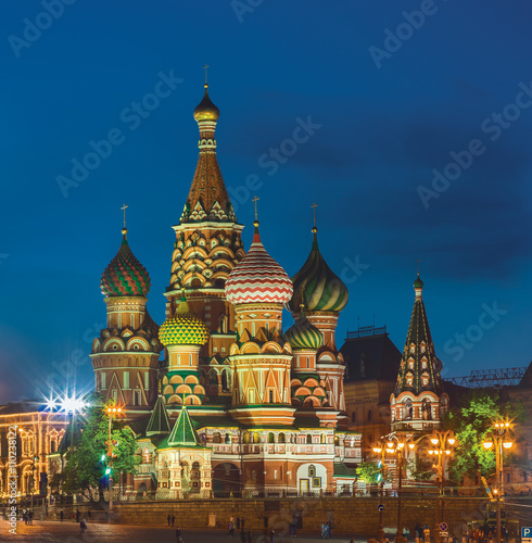 Wall Murals Moscow Saint Basil's Cathedral. Moscow, Russia
