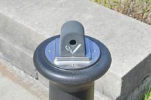 Garbage Trash Can Cigarette Ash Tray