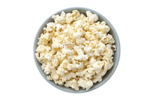 Overhead Shot Of A Bowl With Popcorn
