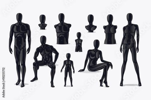 Mannequins vector Canvas Print