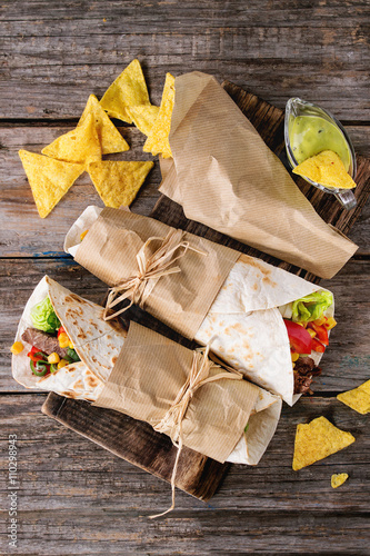 Fényképezés  Tortillas and nachos