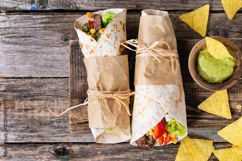 Tortillas and nachos Plakát