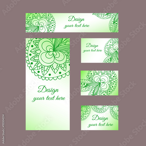 design templates business cards flyers invitations abstract green